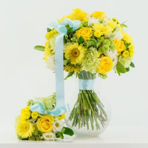 Yellow Mom & Baby Bouquet